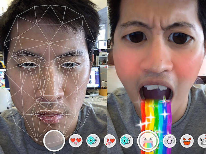 Snapchat filters zonder voor grappige effecten